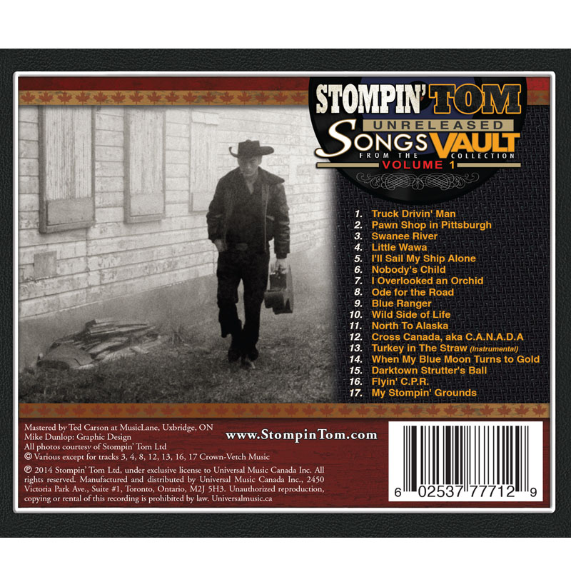 Universal Music Canada | Stompin' Tom Connors