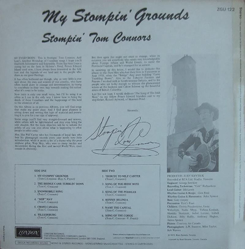 Tribune London Stompin Tom Connors